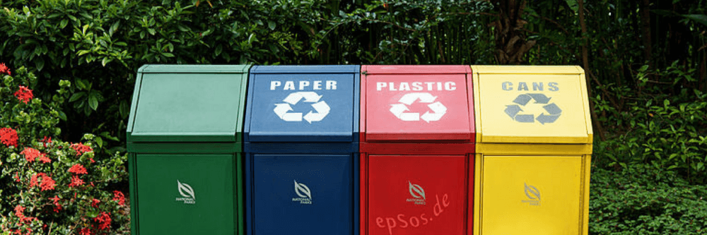 Business plan for waste management - picture of recycling bins.