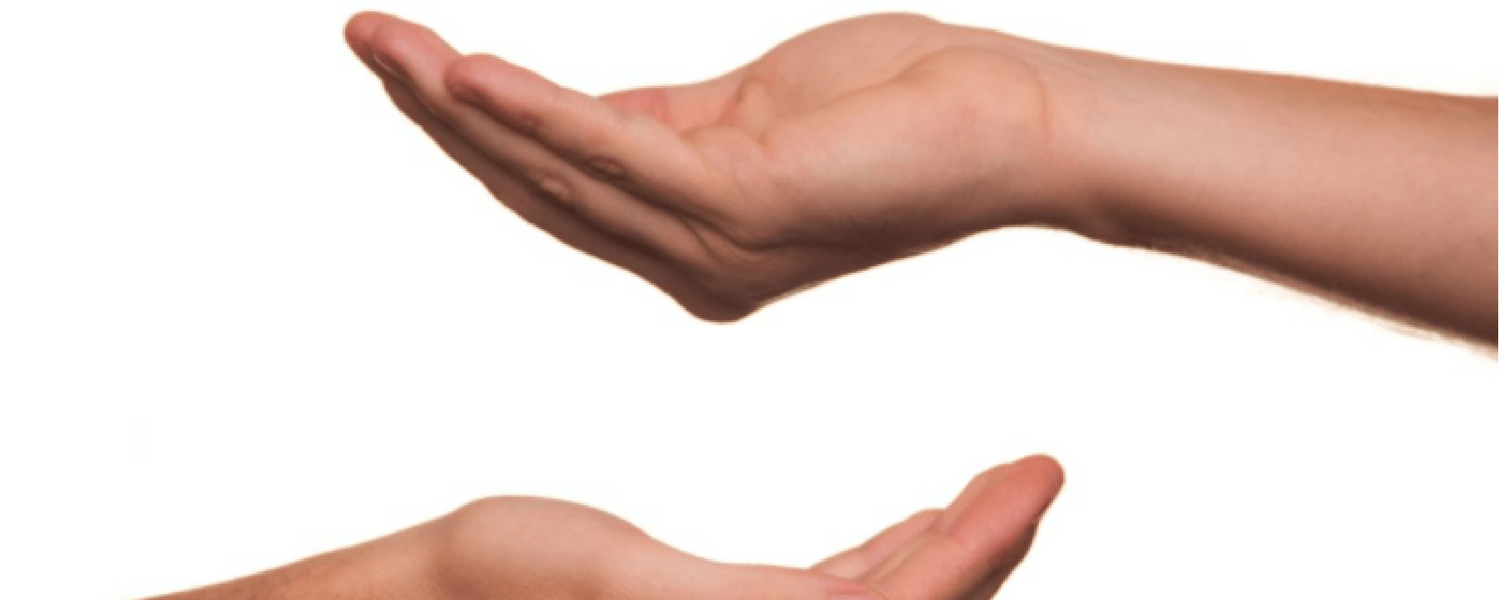 Hands supporting one another