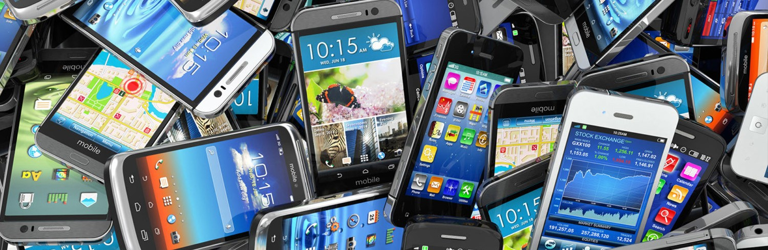 How to Recycle Old Mobile Phones - Smarter Business - Collection of cellphones