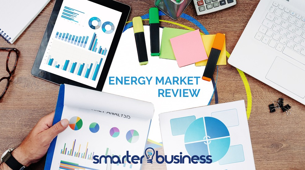 Smarter Business Weekly Energy Market Review - Desk with graphs