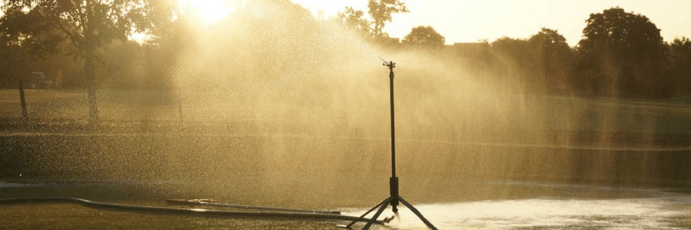 Sprinkler on a golf course - Smarter Business