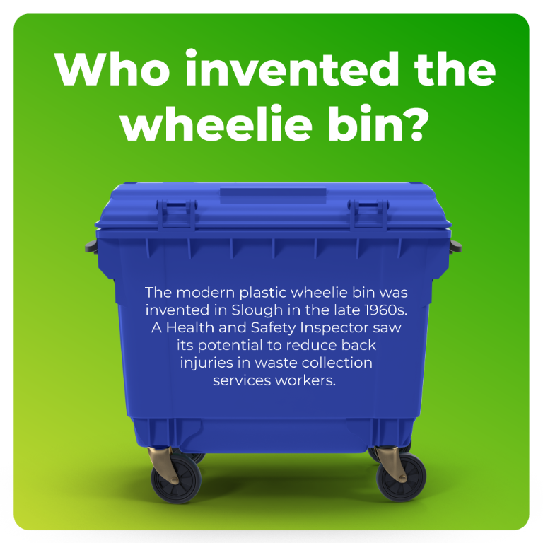 Who invented the wheelie bin?