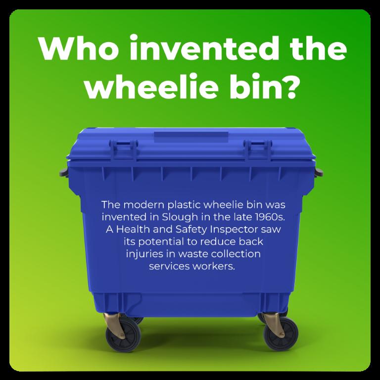 Who invented the wheelie bin?