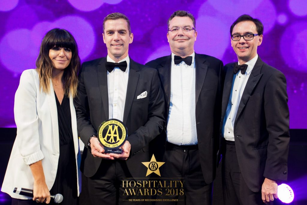 AA Restaurant of the Year for England 2018