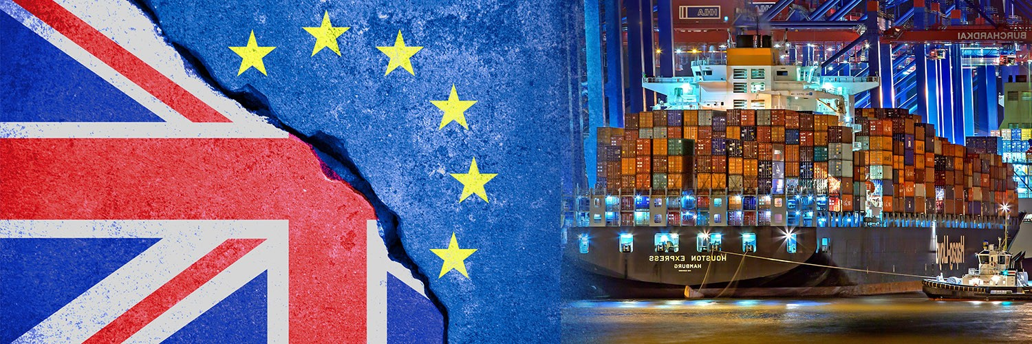 Brexit-UK-Flag-European-Flag-Cargo-Shipment