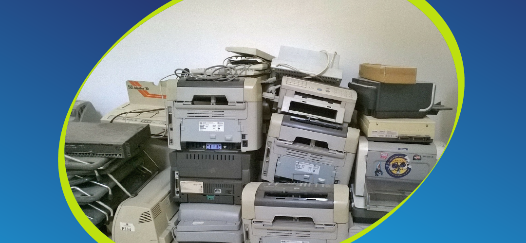 old discarded printers