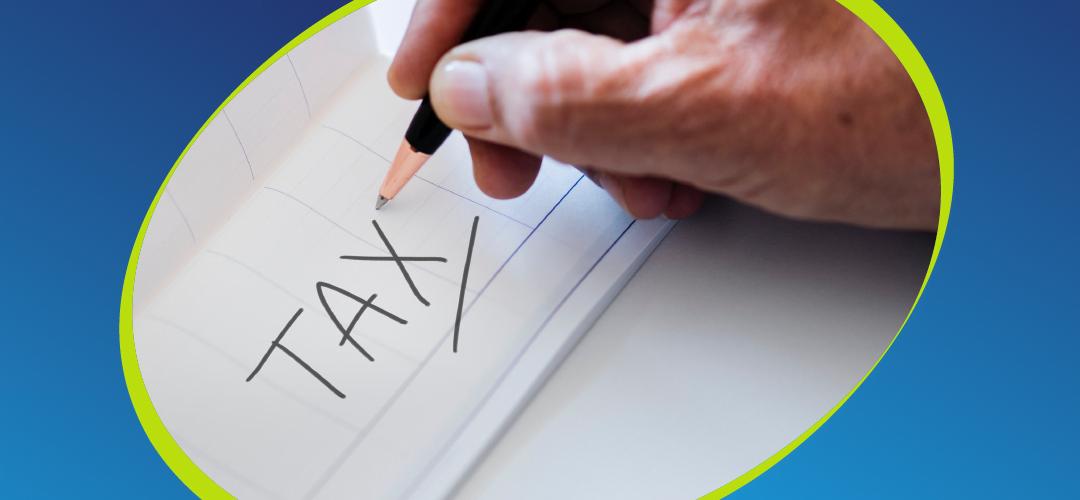 Handwritten tax note