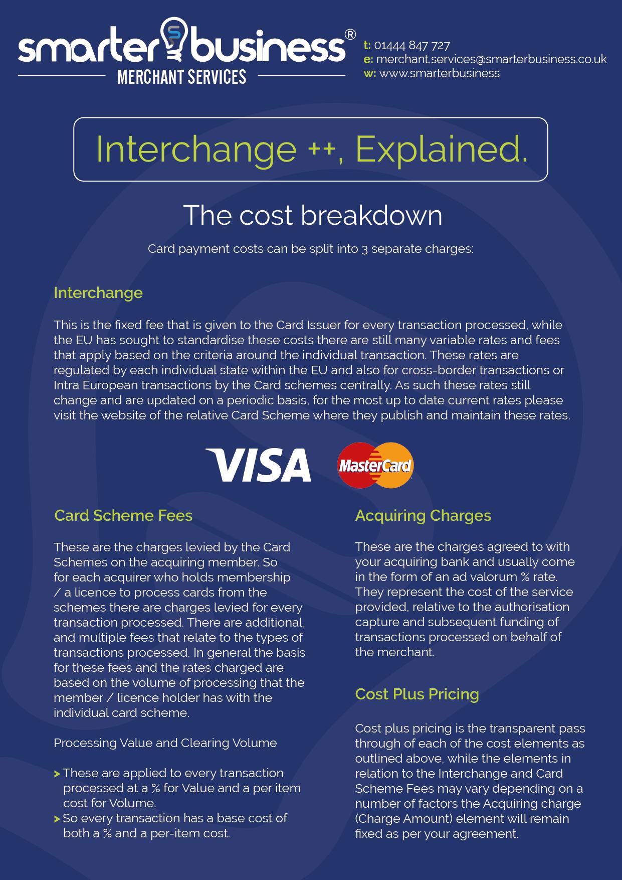 Interchange Plus Pricing for Merchant Services