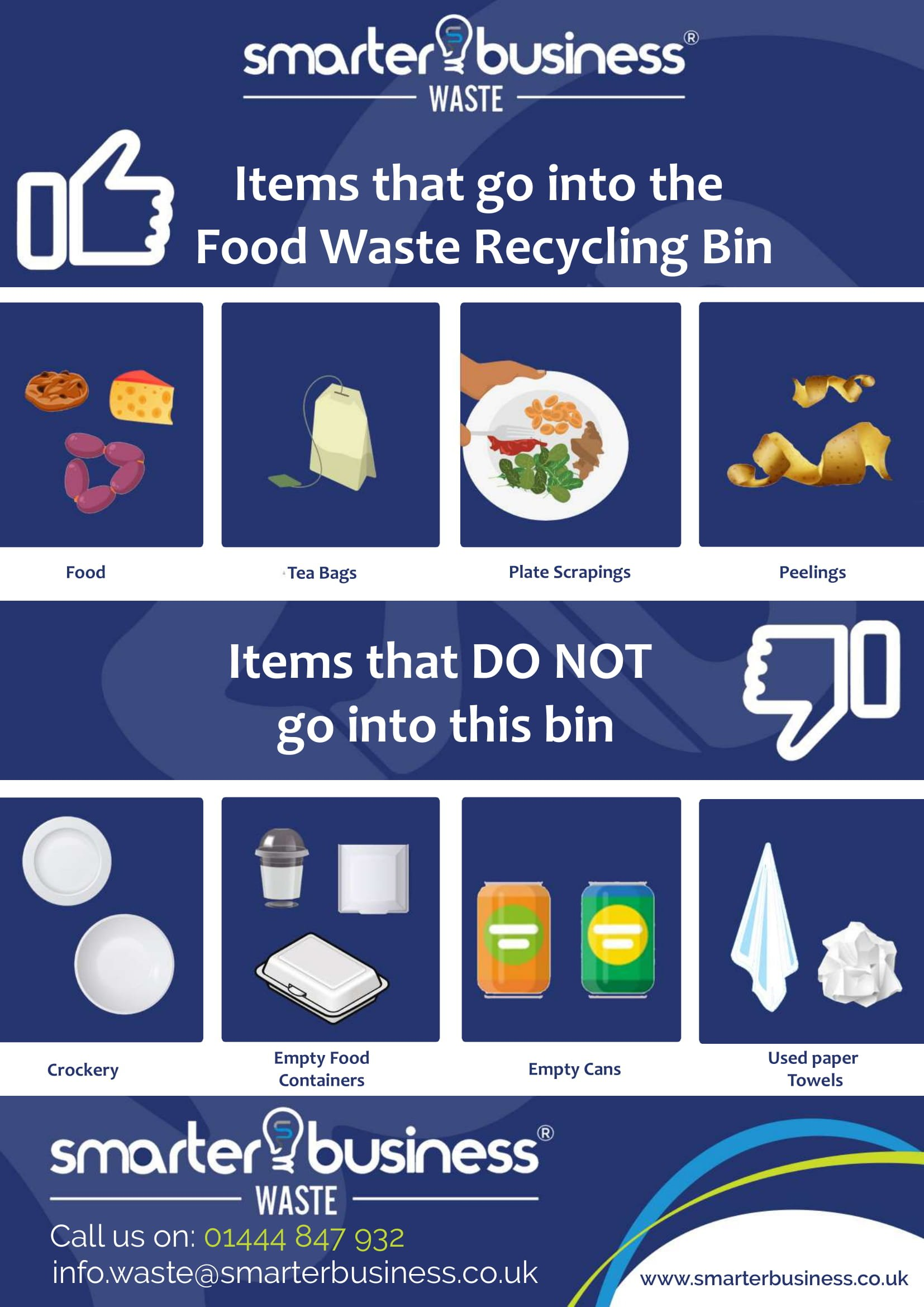 what can go into the food waste recycling bin