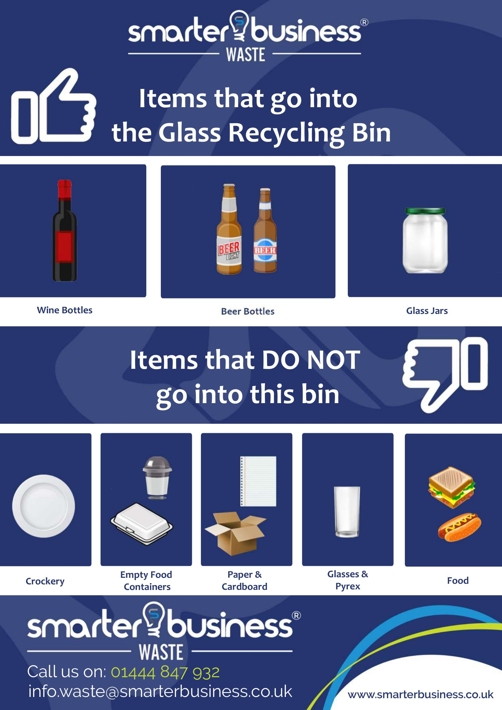 what can go into the glass recycling bin